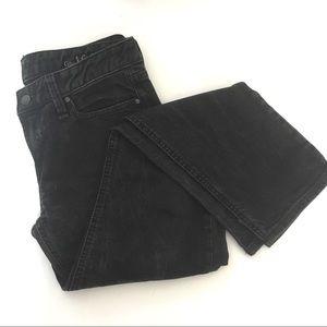 Gap Real Straight straight leg jeans, short, black